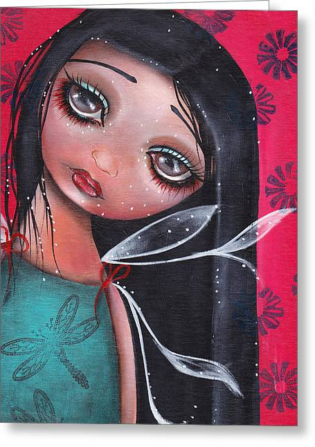 Fairies Greeting Cards - Perla Greeting Card by  Abril Andrade Griffith