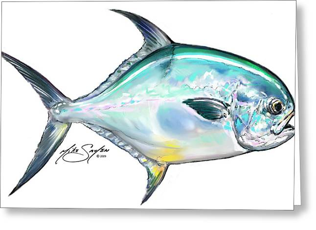 Savlen Greeting Cards - Permit Study Greeting Card by Mike Savlen