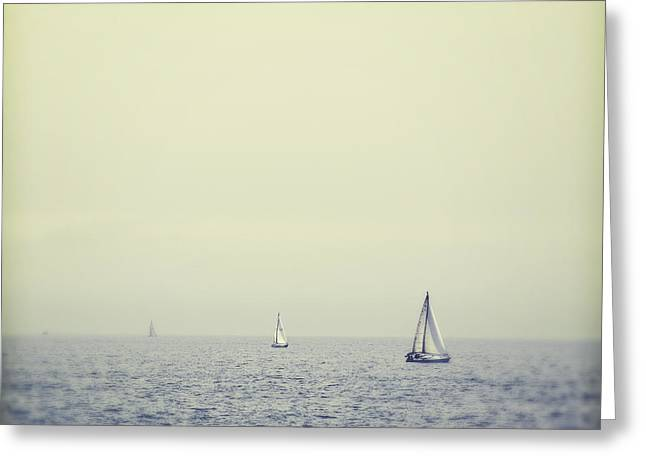 Santa Cruz Sailboat Greeting Cards - Perpetual Greeting Card by Melanie Alexandra Price