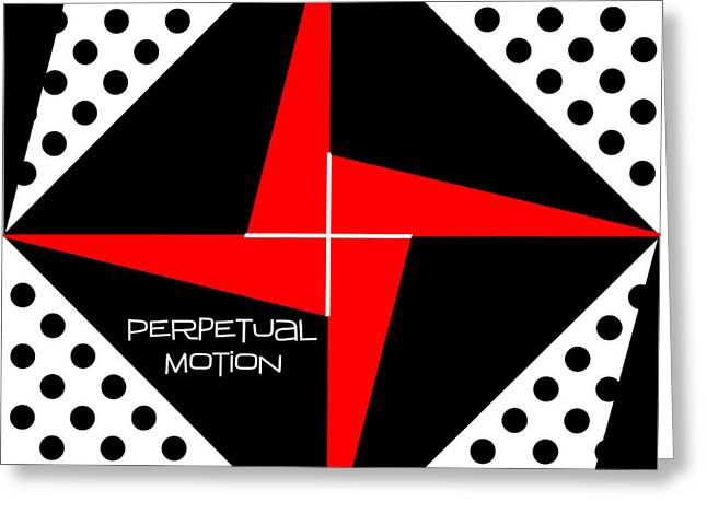 Quilt Blocks Greeting Cards - Perpetual Motion Greeting Card by Methune Hively