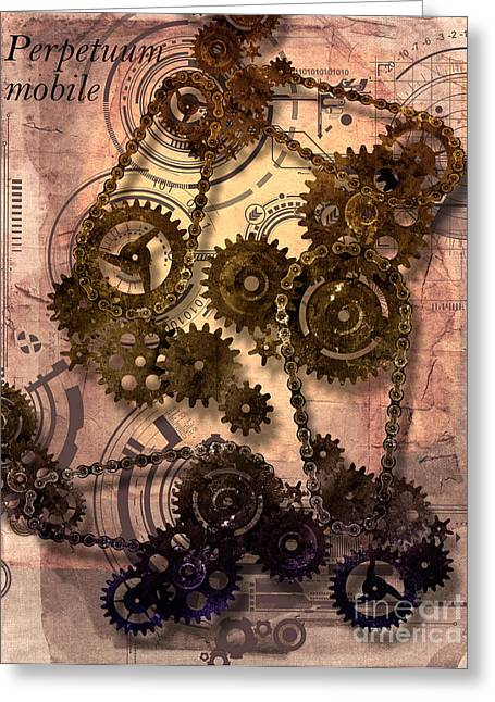 Cooperation Digital Art Greeting Cards - Perpetuum mobile Greeting Card by Diuno Ashlee