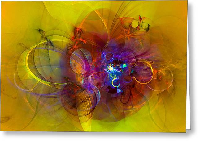 Abstract Shapes Greeting Cards - Perpetuum mobile Greeting Card by GP Images