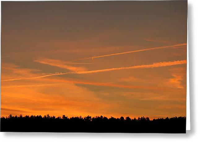 Neal Eslinger Greeting Cards - Perplexing Sunset  Greeting Card by Neal  Eslinger
