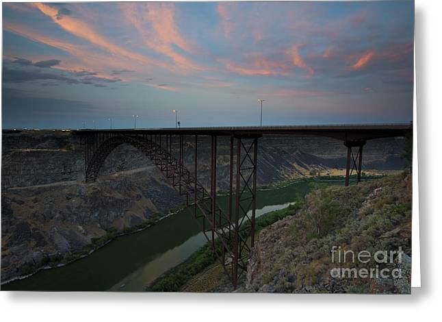 Bridge Greeting Cards - PErrine Bridge Sunset Greeting Card by Mike  Dawson