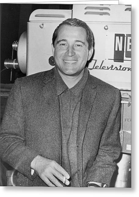 Deference Greeting Cards - Perry Como Greeting Card by Mountain Dreams