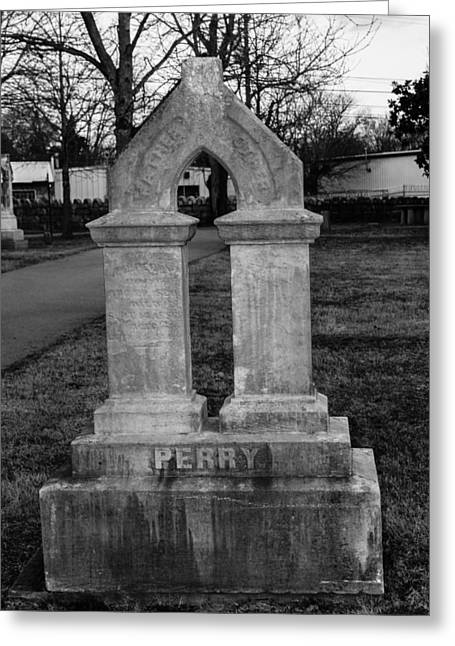 Final Resting Place Greeting Cards - Perry Family Grave marker Greeting Card by Robert Hebert