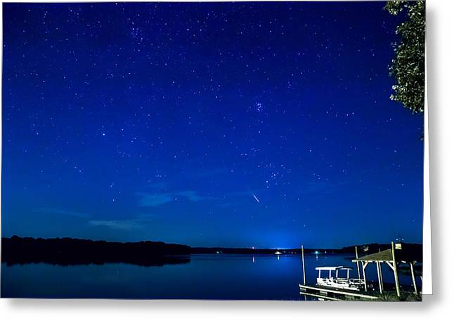 Perseid Photographs Greeting Cards - Perseid Meteor Greeting Card by Charles Hite