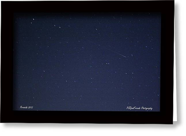 Perseid Meteor Greeting Card by PJQandFriends Photography