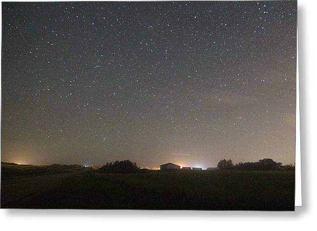 Perseid Photographs Greeting Cards - Perseid Meteor Shower Greeting Card by Gerald Murray Photography