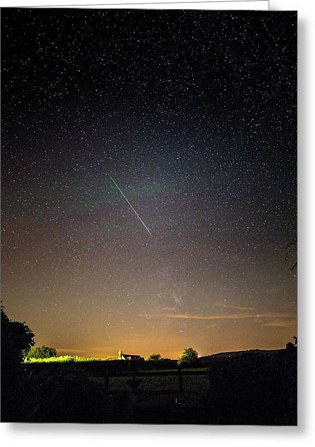 Perseid Meteor Trail 2015 Greeting Card by Chris Madeley