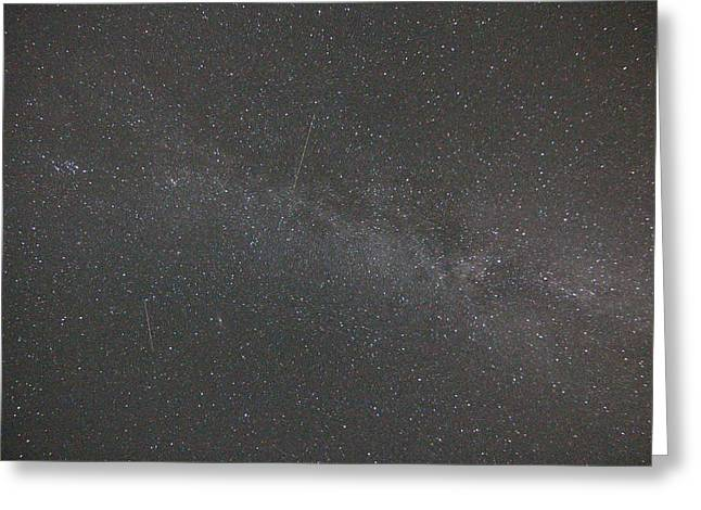 Perseid Photographs Greeting Cards - Perseid Meteors Greeting Card by Gerald Murray Photography
