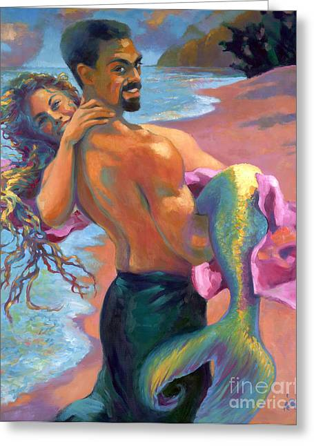 Mermaid Lovers Greeting Cards - Persephone Enters the Otherworld Greeting Card by Isa Maria