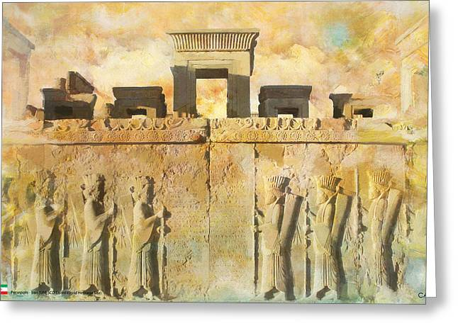 Souvenir Greeting Cards - Persepolis  Greeting Card by Catf