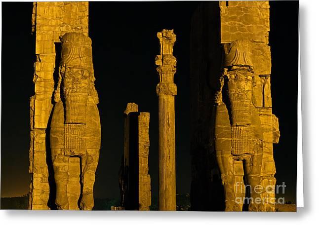Xerxes Greeting Cards - Persepolis Gate Of Nations Greeting Card by Babak Tafreshi
