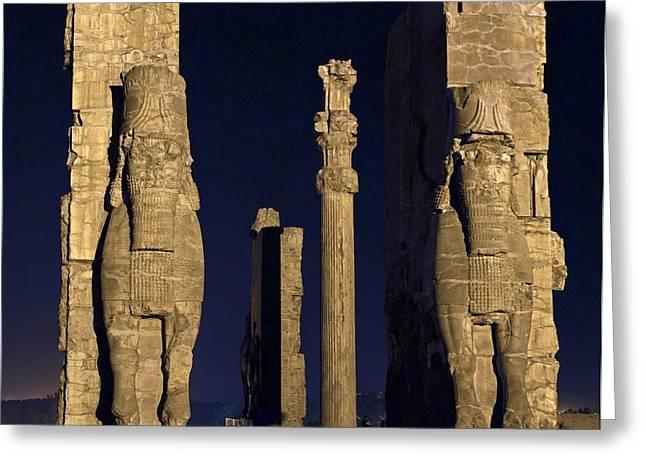 Ancient Persian Art Greeting Cards - Persepolis, Iran Greeting Card by Science Photo Library