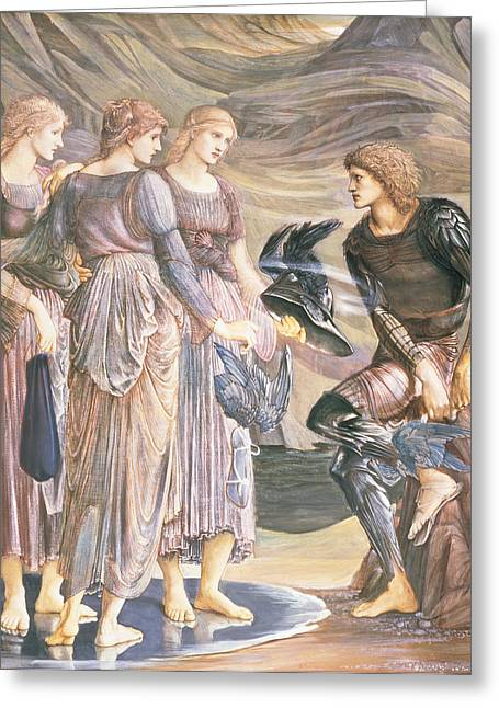 Pre-raphaelites Drawings Greeting Cards - Perseus And The Sea Nymphs, C.1876 Greeting Card by Sir Edward Coley Burne-Jones