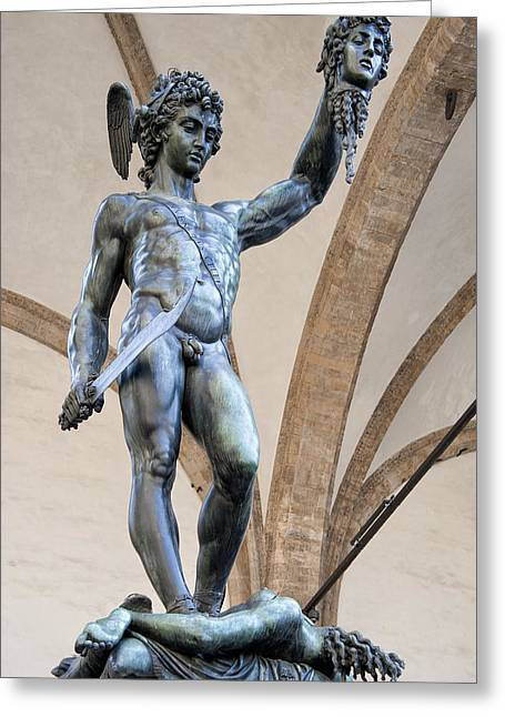 Uffizi Greeting Cards - Perseus By Cellini Greeting Card by Melany Sarafis