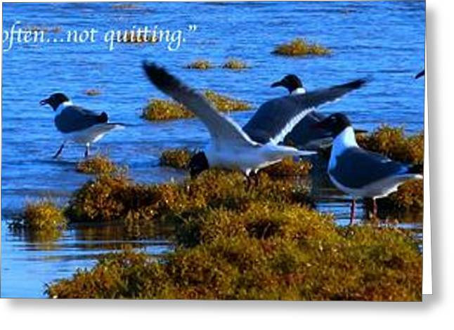 Positive Attitude Greeting Cards - Perseverance 4 Greeting Card by Michael Anthony