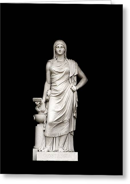Sculpture Art Greeting Cards - Perseverance Greeting Card by Fabrizio Troiani