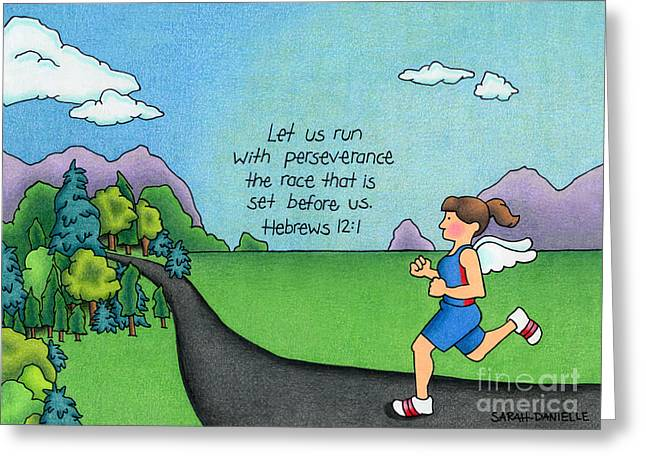 Recently Sold -  - Seraphim Angel Greeting Cards - Perseverance Greeting Card by Sarah Batalka
