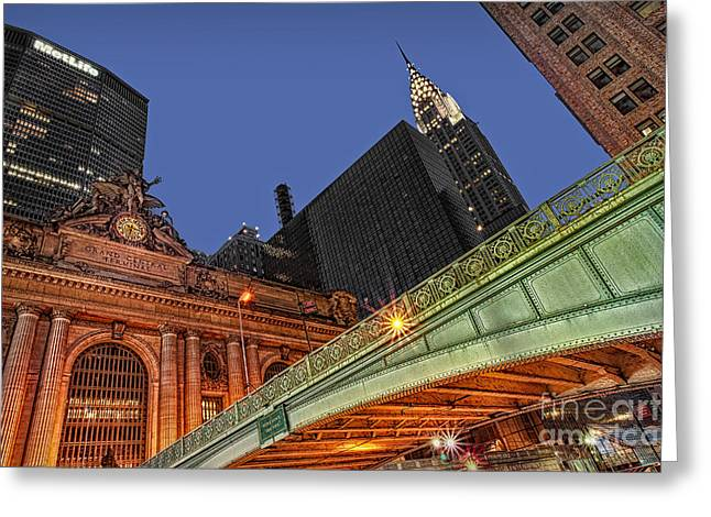 Pershing Square Greeting Card by Susan Candelario