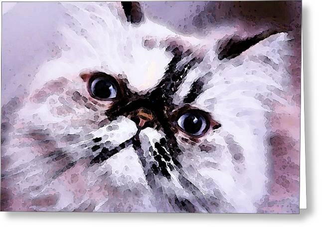 Persian Greeting Cards - Persian Cat Art - Just Moi Greeting Card by Sharon Cummings