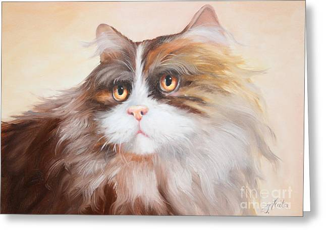 Shower Curtain Greeting Cards - Persian Cat Greeting Card by  ILONA ANITA TIGGES - GOETZE  ART and Photography