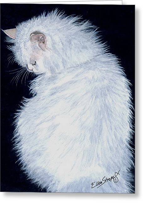 Cat Images Greeting Cards - Persian Greeting Card by Ellen Strope