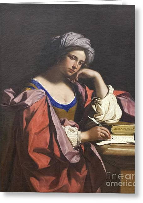 Giovanni Francesco Barbieri Greeting Cards - Persian Sibyl by Guercino Greeting Card by Roberto Morgenthaler