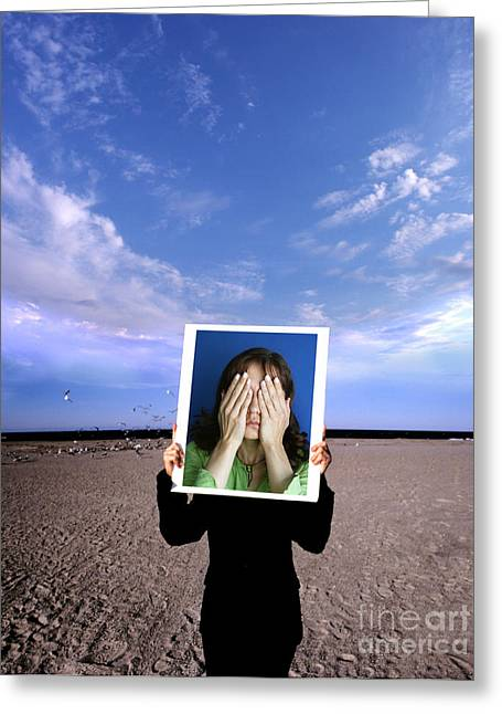 Conscious Greeting Cards - Person Holding Photo Greeting Card by Novastock