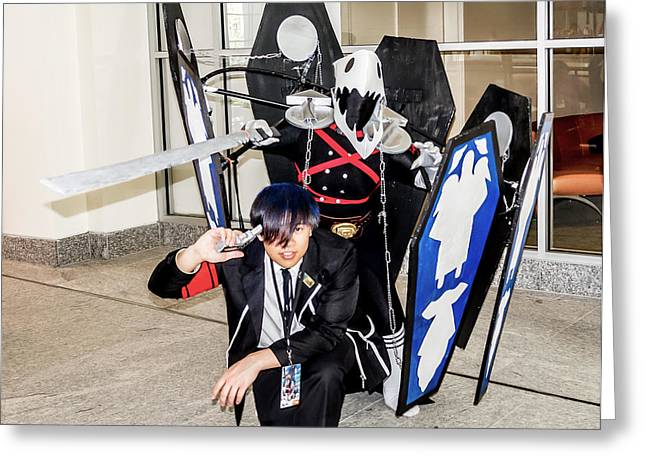 Cosplayers Photographs Greeting Cards - Persona 3 Cosplay Greeting Card by Arturo Vazquez