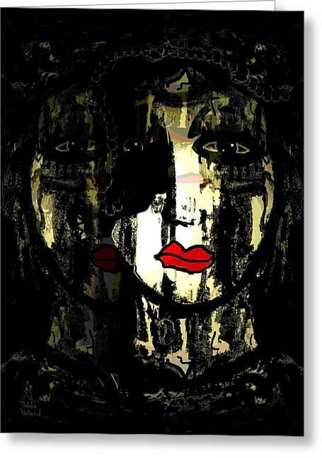 Eyebrow Mixed Media Greeting Cards - Personality Greeting Card by Natalie Holland