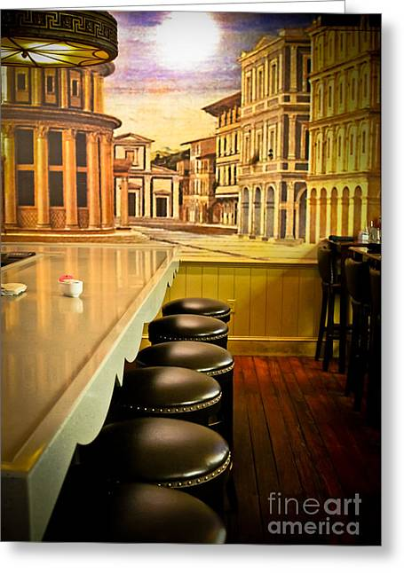 City Murals Greeting Cards - Perspective Greeting Card by Colleen Kammerer