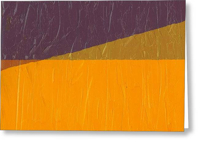 Orange Abstract Greeting Cards - Perspective in Color Collage 11 Greeting Card by Michelle Calkins