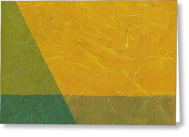 Geometric Style Greeting Cards - Perspective in Color Collage 6 Greeting Card by Michelle Calkins