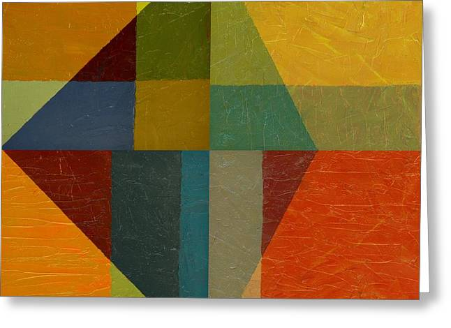 Perspective in Color Collage Greeting Card by Michelle Calkins