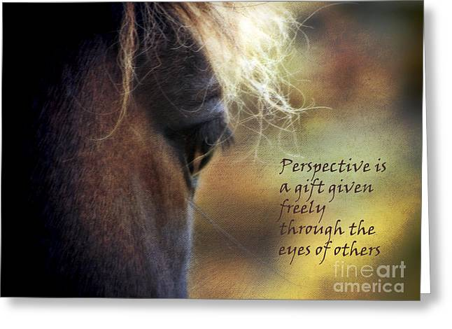 Outlook Greeting Cards - Perspective is a Gift Greeting Card by Karen Lewis
