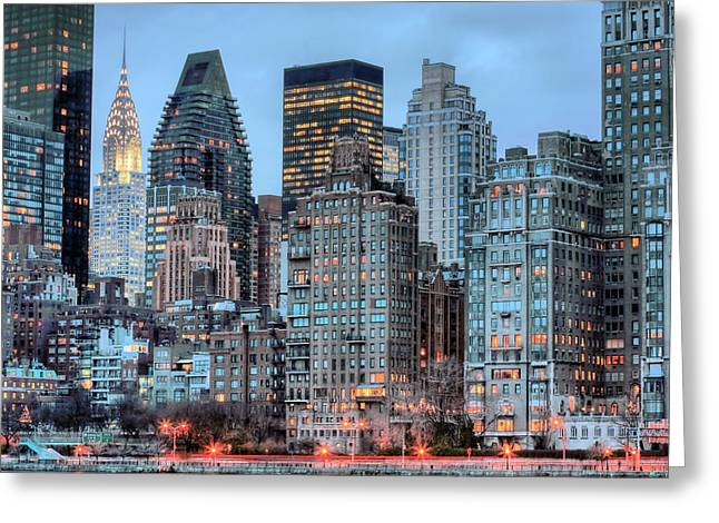 Gotham City Photographs Greeting Cards - Perspectives Greeting Card by JC Findley