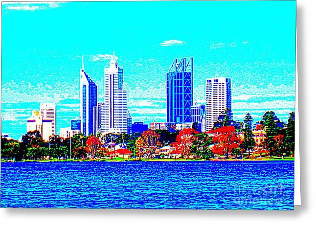 Monger Greeting Cards - Perth and Lake Monger Greeting Card by Roberto Gagliardi