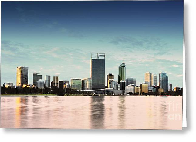 Perth City Western Australia Skyline 2013 Greeting Card by Phill Petrovic