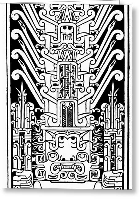 Peru Chavin Stele Greeting Card by Granger