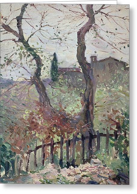 Brown Leaf Greeting Cards - Perugia  Umbria Greeting Card by Konstantin Andreevic Somov