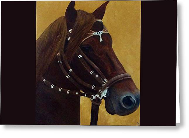Lisa Bentley Greeting Cards - Peruvian Horse Greeting Card by Lisa Bentley