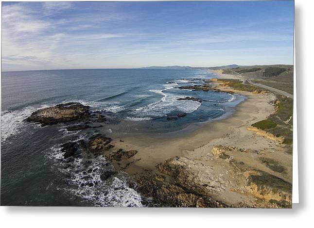 Half Moon Bay Greeting Cards - Pescadero Beach Low Tide Greeting Card by David Levy