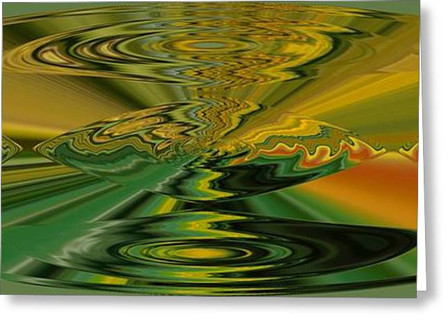 Abstract Rose Oval Greeting Cards - Pesci Greeting Card by Loredana Messina