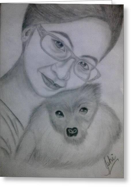 Syeda Ishrat Greeting Cards - Pet Lover Greeting Card by Syeda Ishrat
