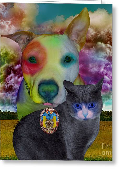 Pet Therapy Greeting Cards - Pet Responders Greeting Card by Mucha Kachidza