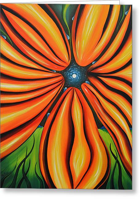 Mental Paintings Greeting Cards - Petal To The Mental Greeting Card by Tony Oakey