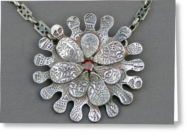 Textured Jewelry Greeting Cards - Petal to the Metal Greeting Card by Mirinda Kossoff