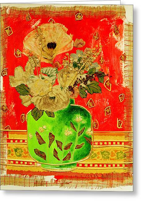 Petals And Leaves Greeting Card by Diane Fine